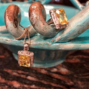 Jewelry - CITRINE AND S.SILVER NECKLACE & RING